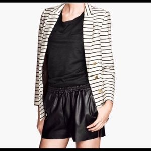 H&M faux leather shorts